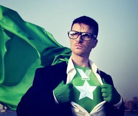 Medal Strong Superhero Success Professional Empowerment Stock