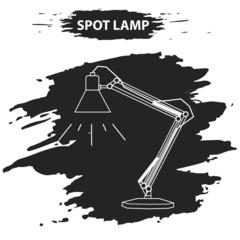 line lamp on grunge blot, good idea