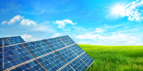 landscape with solar panel - 78706850