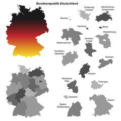 Deutschland mit allen Bundesländern