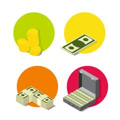 set money icons.