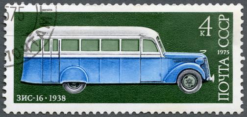 USSR - 1975: shows ZIS-16 autobus, 1938