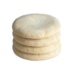 Arabic bread on white.