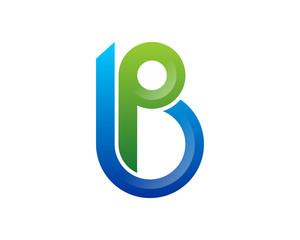 B Letter Double Line