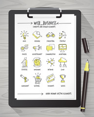 Hand drawn business concepts