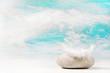 Wünsche und Träume: Glückwunschkarte oder Konzept mit Stein