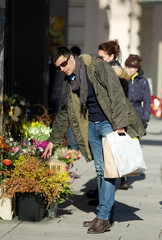 Young man in shopping