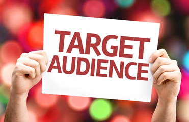 Target Audience card with colorful background