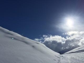 Sole e neve Abruzzo