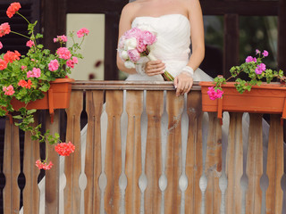Bride at Porch
