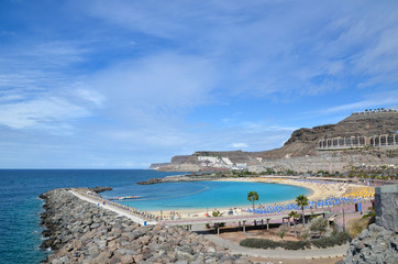 Playa de Amadores at Canary Islands