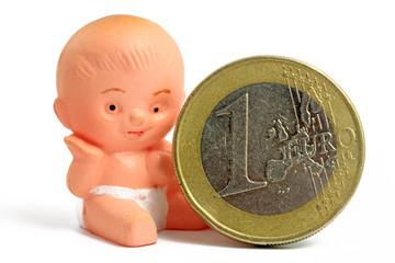 baby mit euro