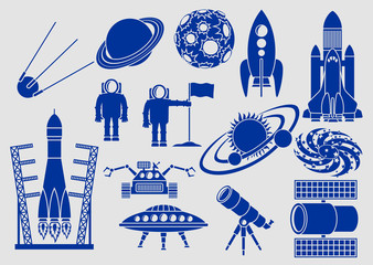 Space, Set of Icons