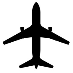 Silhouette of Plane