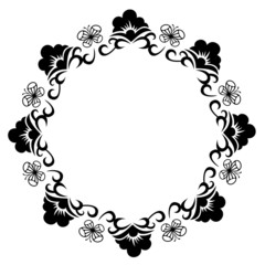 Round frame silhouette