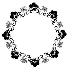 Round frame silhouette