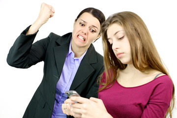 Mother willing to destroy cell phone of daughter