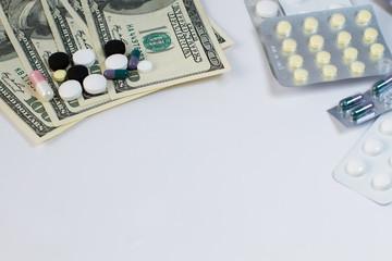 Pills and money.