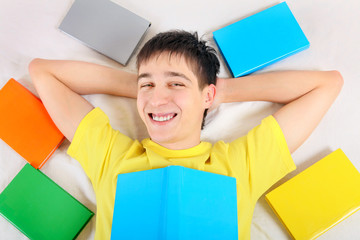 Happy Teenager with a Books