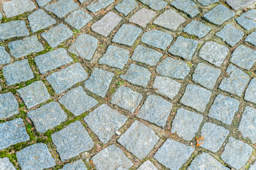 Stone cube pathway texture wavy, diagonal