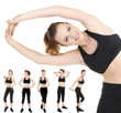 Woman doing exercises isolated