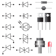 Diode. Electronic symbols