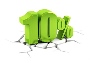 3d render of a 10 percent