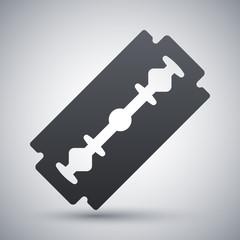 Vector razor blade icon