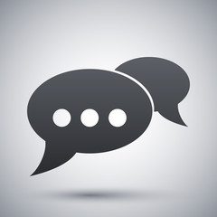 Vector speech bubbles chat icon