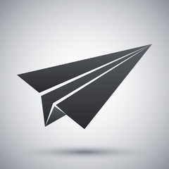 Vector paper airplane icon