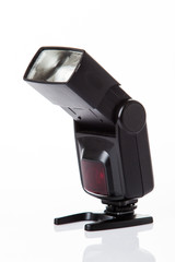 Camera flash light isolate on white background