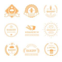 set of bakery and bread shop logos, labels, badges  design