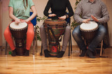 Fototapety Group of Jambe drummers playing