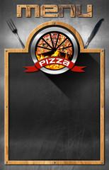 Blackboard for Pizza Menu