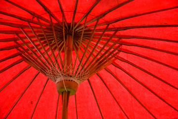Red umbrella structure pattern