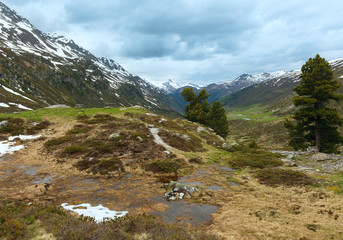 Summer mountain landscape (Fluela Pass, Switzerland)