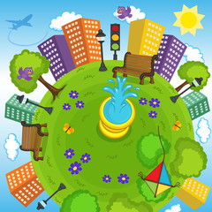 earth and environment - vector illustration