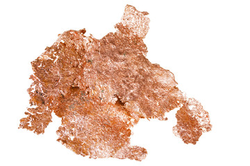 native copper isolated on white background
