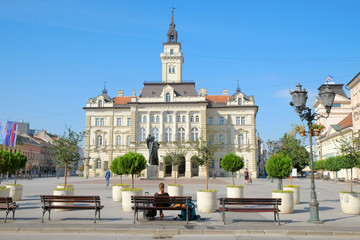 Main Square And City Hall Of Novi Sad, Serbia