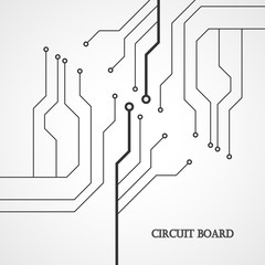Circuit board cpu. Abstract background. Vector illustration