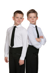 Two handsome dancers