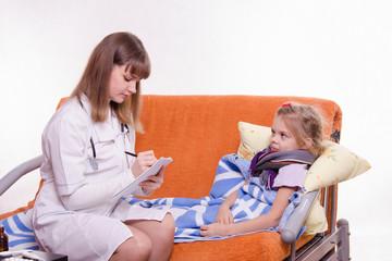 Pediatrician writes complaints sick girl