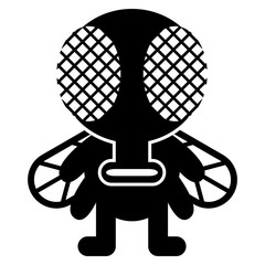 Cartoon Funny Fly Icon Character Isolated