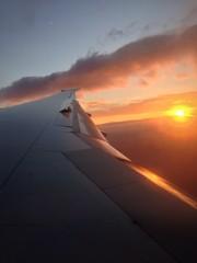 coucher de soleil en vol