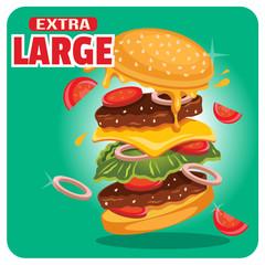 Vector fast food illustration