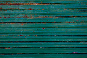 An Old galvanized green steel -  Background texture