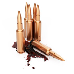 Rifle cartridges with blood