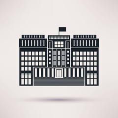 Courthouse. Vector icons in a flat style.