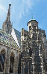 The St. Stephens Cathedral in Vienna, Austria.