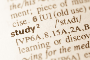 Dictionary definition of word study